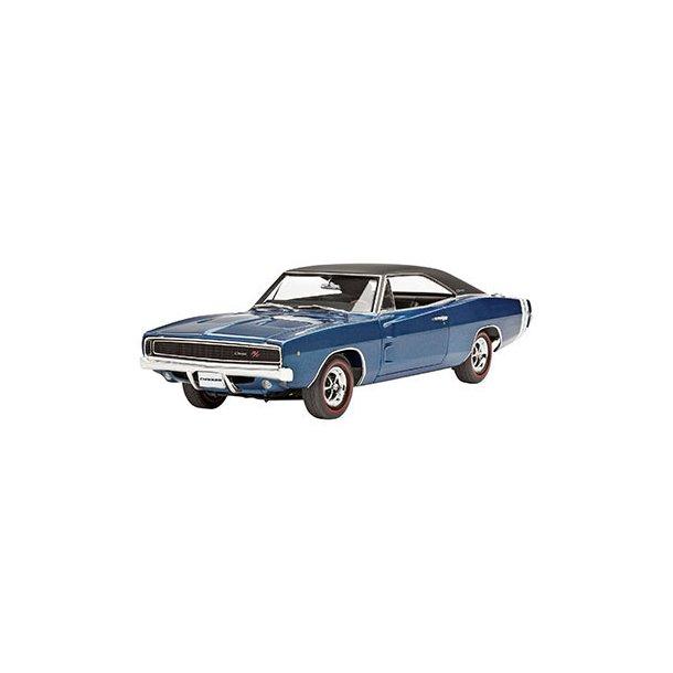 07188 Revell 1968 Dodge Charger R/T 1/25 INCL Maling, Lim og pensel.