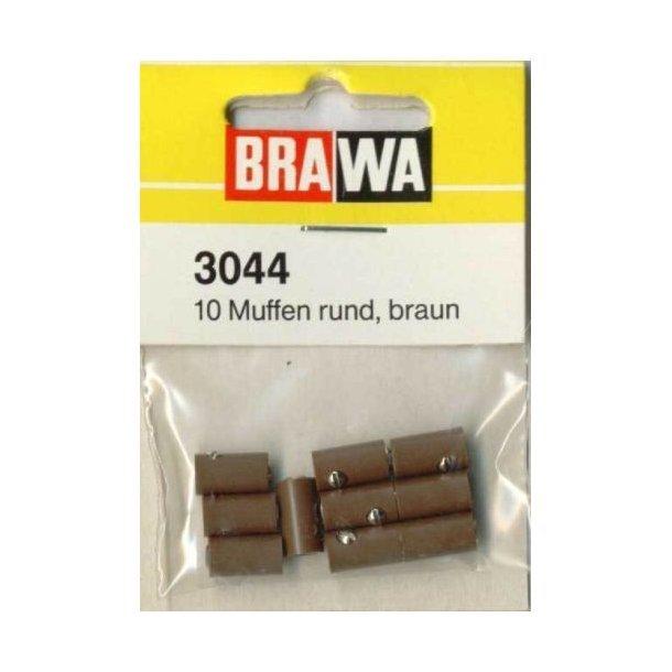 3044 BRAWA 10 stk hunstik Ø 2,5 mm. Brun