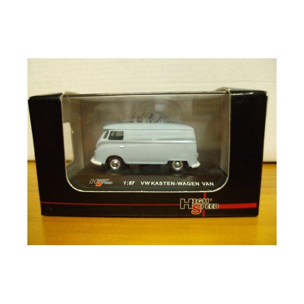 High Speed modeller 1:87 VW lukket kassevogn uden reklame.