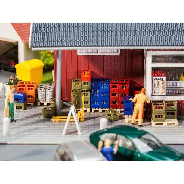 180353 FALLER Tilbehør til Købmand. H0.