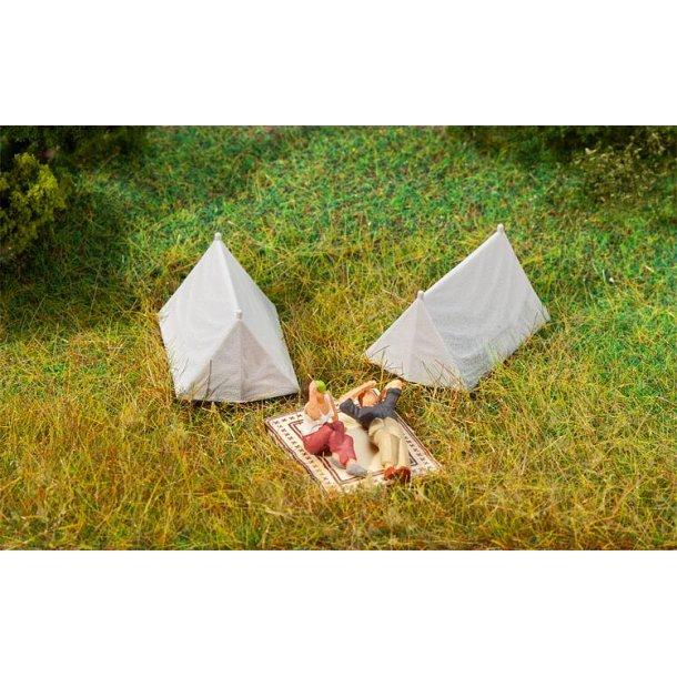 180987 FALLER. 4 telte. H0.