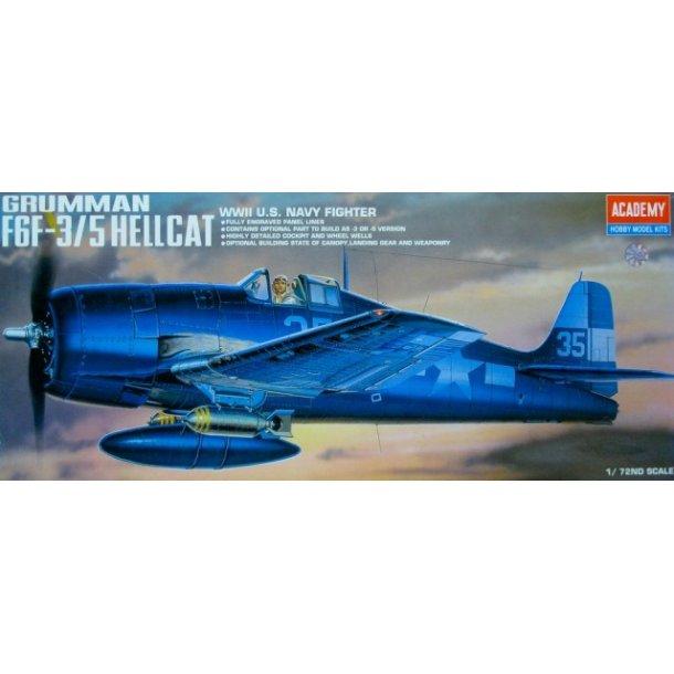 2121 Akademy. Grumman F6F-3/5 HELLICAT. 1:72