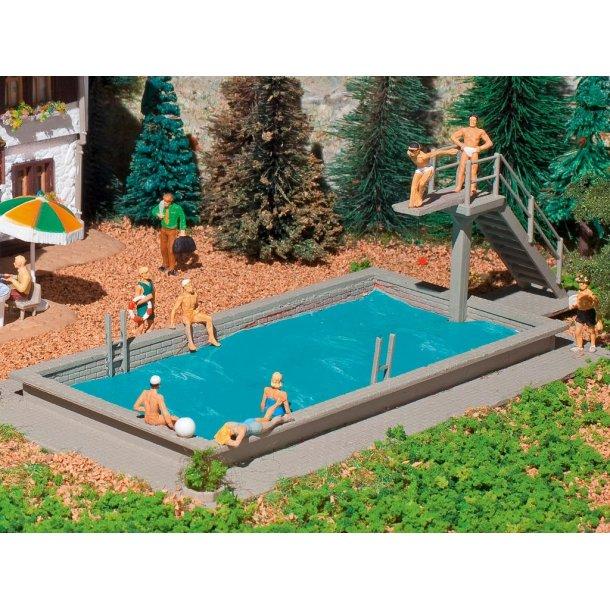 3809 Vollmer H0. Svimming pool.