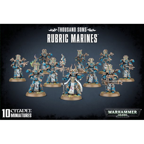 43-35 WARHAMMER. Thousand Sons Rubric Marines.
