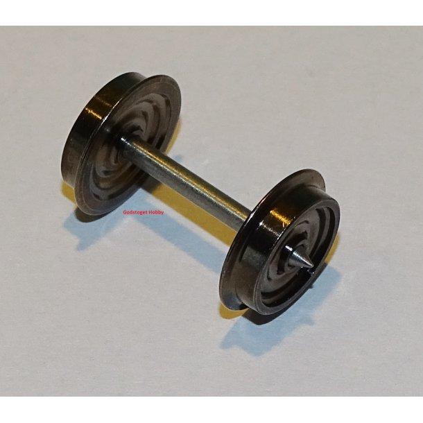 17x01 MCK AC hjul til Bns vogne. H0