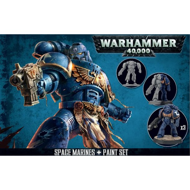 60-11 WARHAMMER Space Marines + Paint set.